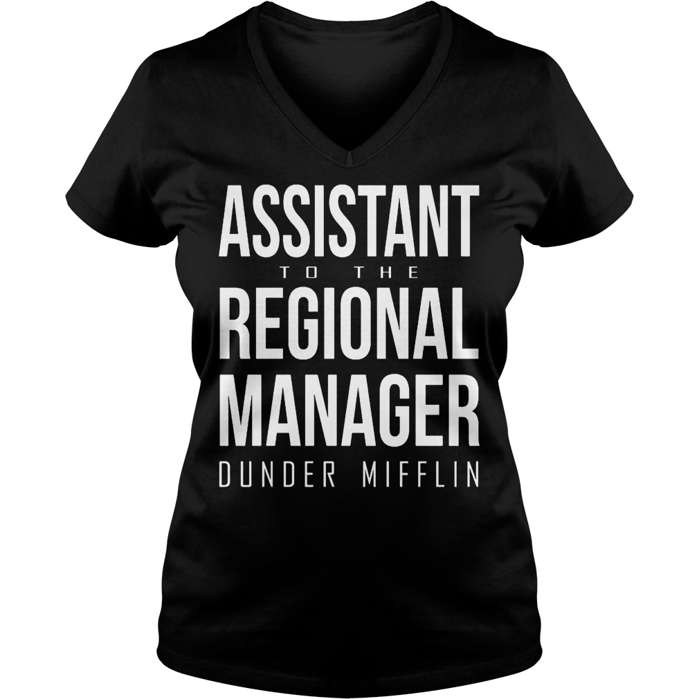 Assistant to the regional manager dunder mifflin Shirt Ladies V-Neck