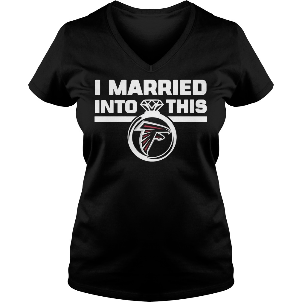Atlanta Falcons i married into this shirt Ladies V-Neck