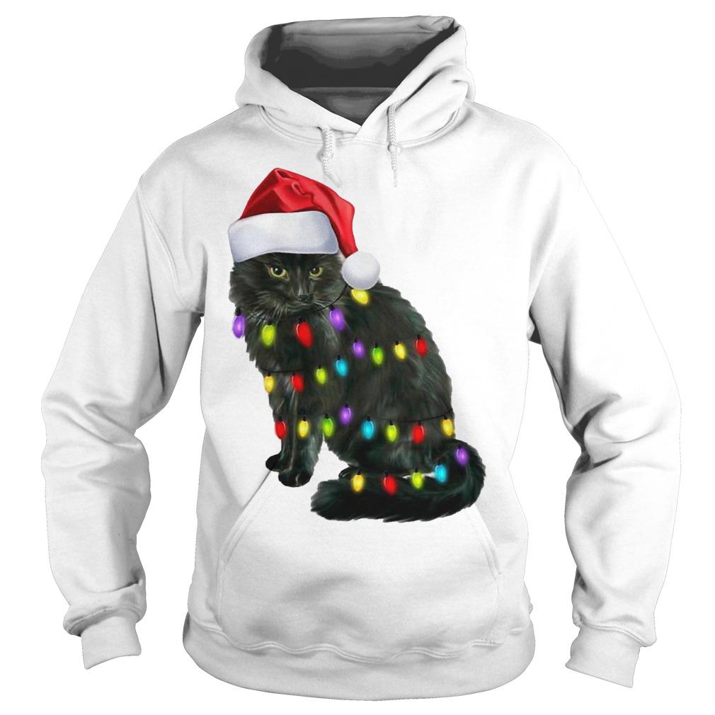 Cat light christmas Shirt Hoodie