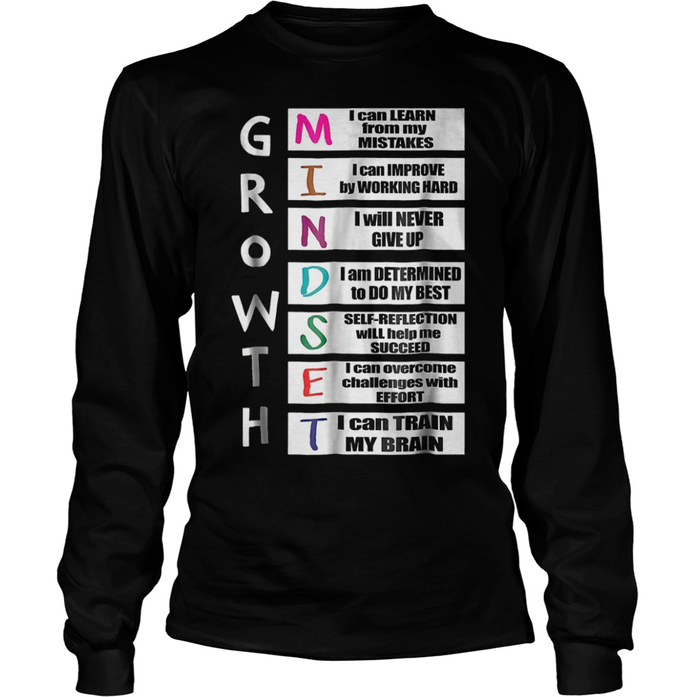 Growth mindset shirt Longsleeve Tee Unisex