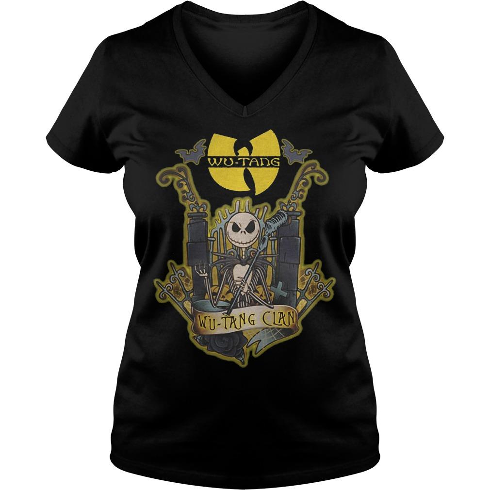 Jack Skellington Wu Tang Clan Shirt Ladies V-Neck