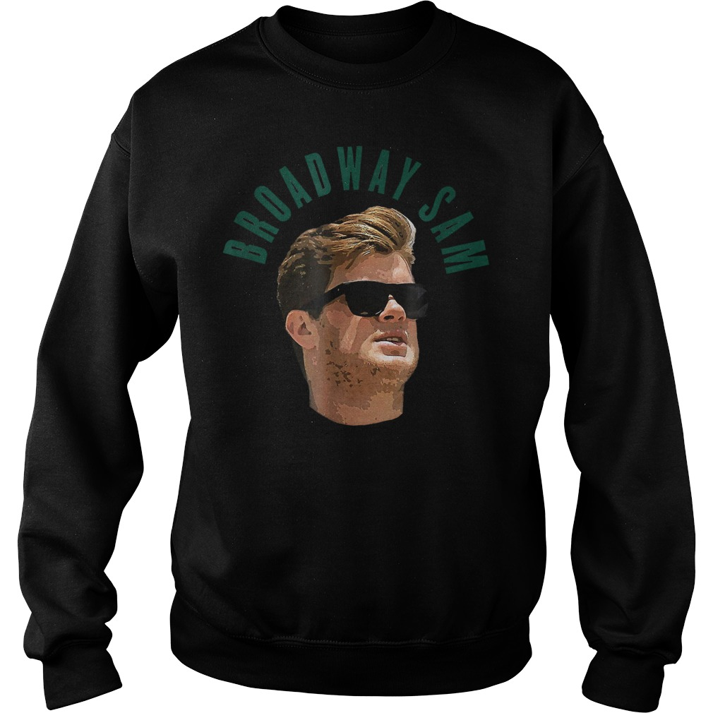 Official Broadway Sam Darnold Jets Namath Homage T-Shirt Sweatshirt Unisex