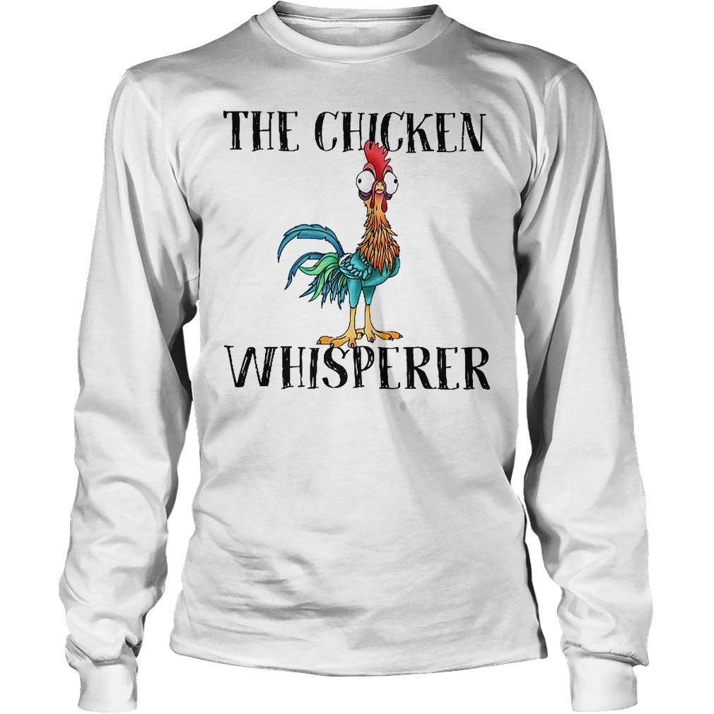 Official Disney Moana The chicken whisperer shirt Longsleeve Tee Unisex