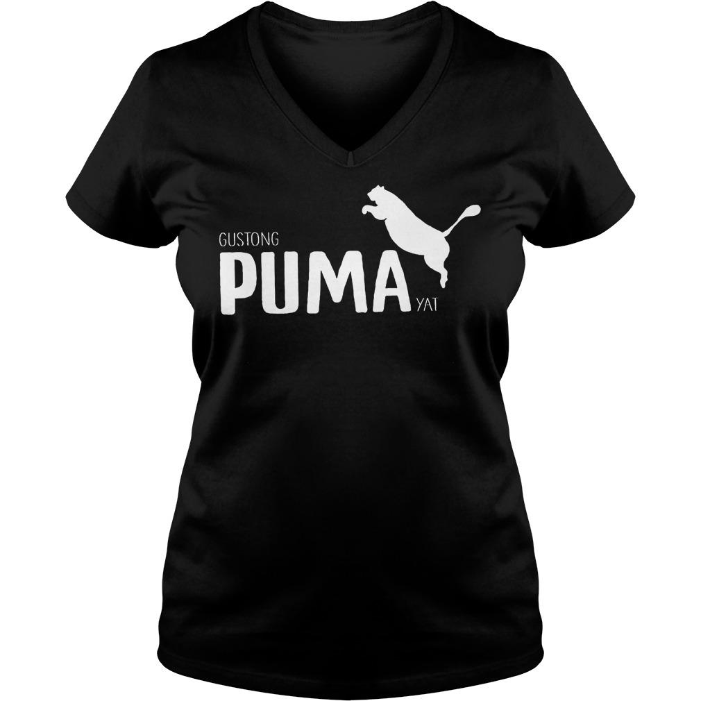 Official Gustong Puma Yat Linya T-Shirt Ladies V-Neck
