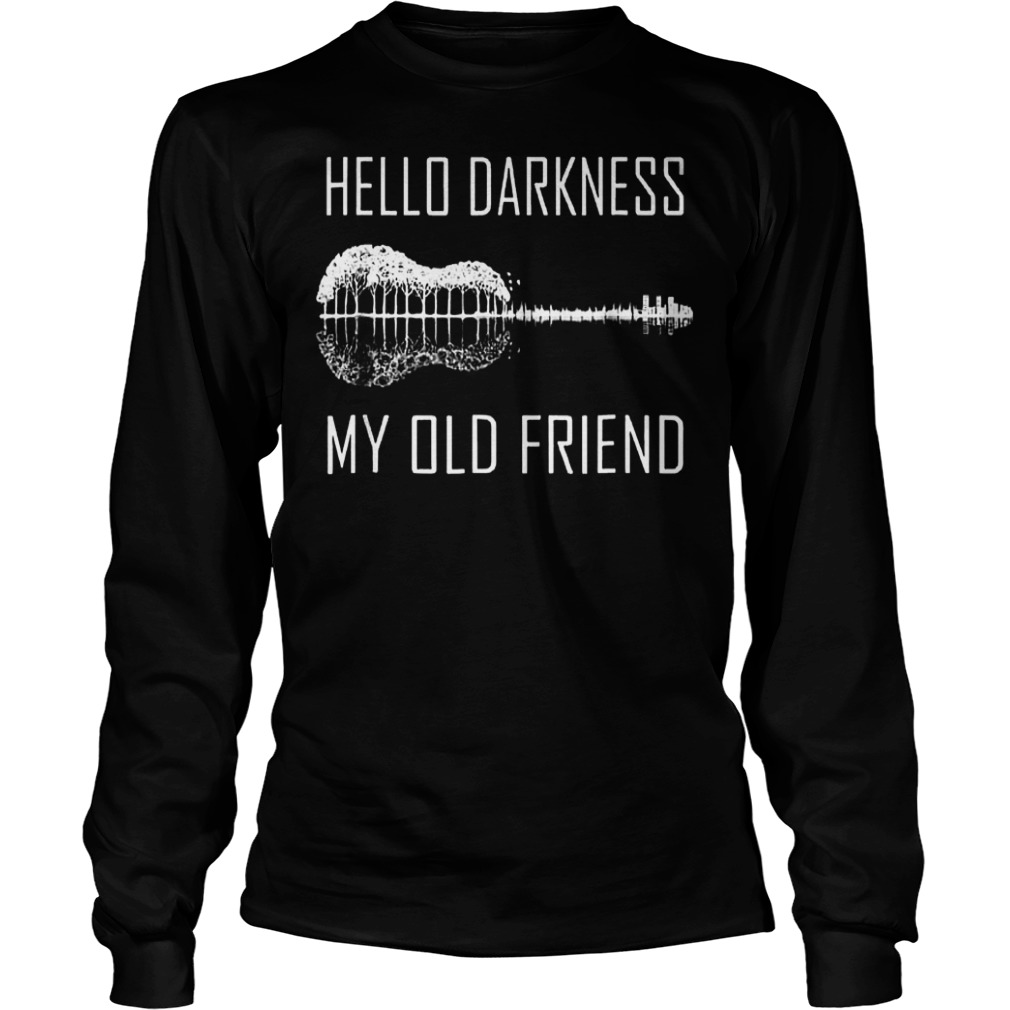 Official Hello darkness guitar my old friend T-Shirt Longsleeve Tee Unisex