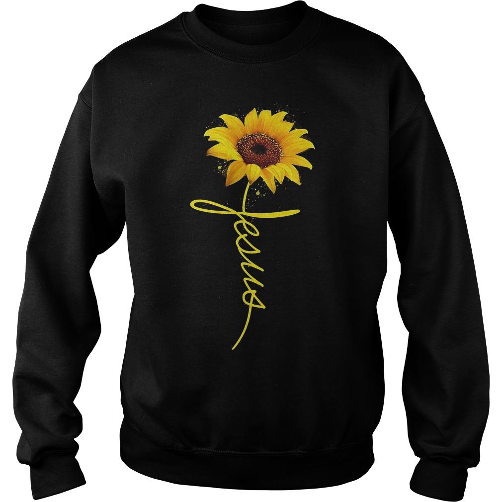 Sunflower Jesus Shirt Sweatshirt Unisex