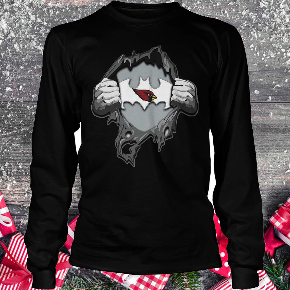 Arizona Cardinals Ripping Tearing Through Logo Batman Shirt Longsleeve Tee Unisex