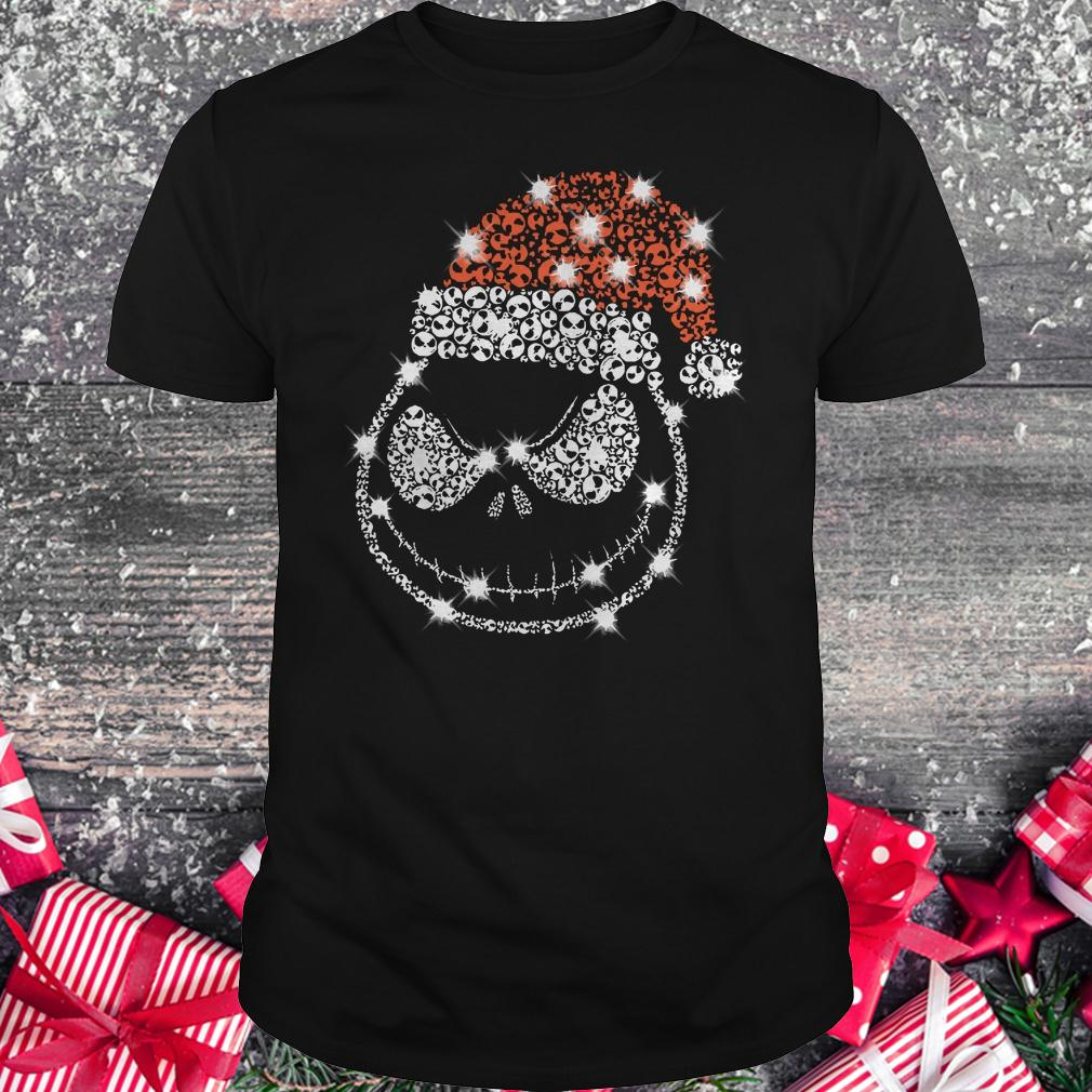 Best price Christmas Rhinestone Jack Skellington with Santa hat Classic Guys / Unisex Tee