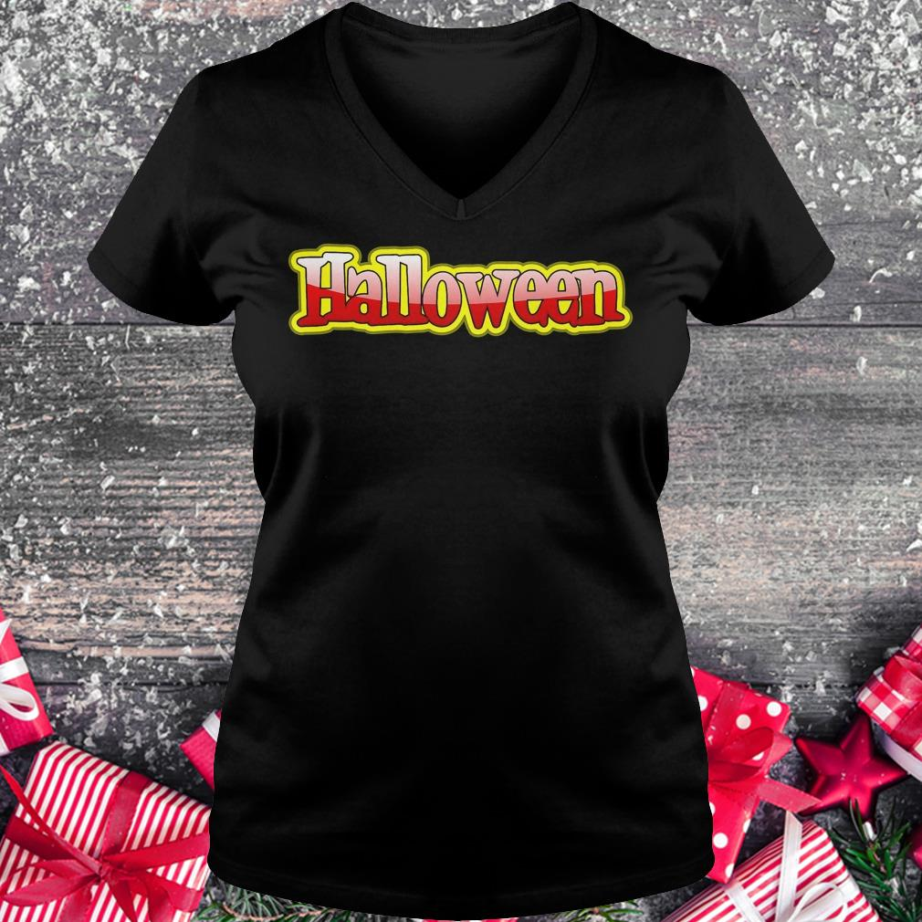 Halloween clipart text banner Shirt Ladies V-Neck