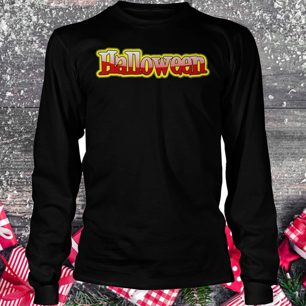Halloween clipart text banner Shirt Longsleeve Tee Unisex