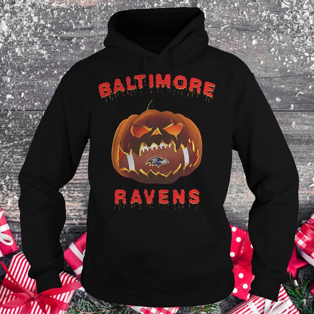 Halloween pumpkin Baltimore Ravens NFL Shirt Hoodie