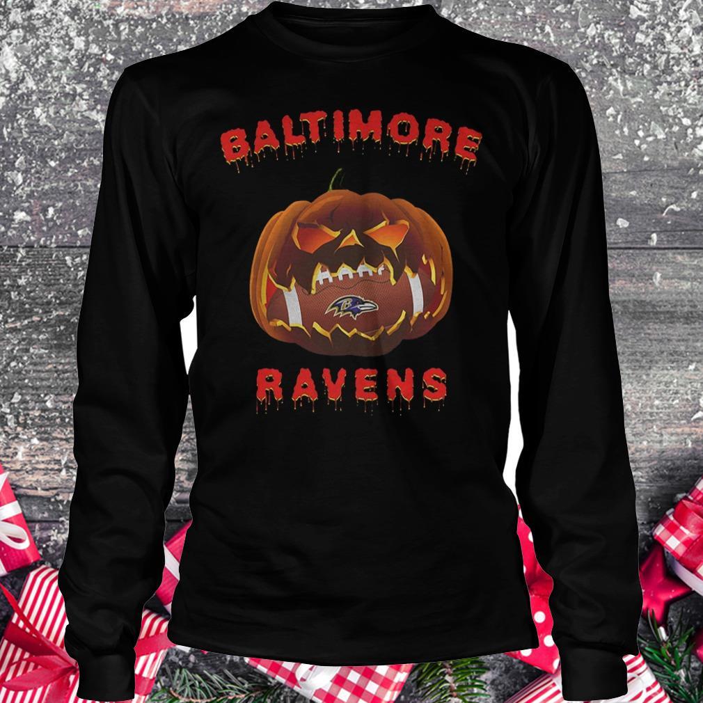 Halloween pumpkin Baltimore Ravens NFL Shirt Longsleeve Tee Unisex