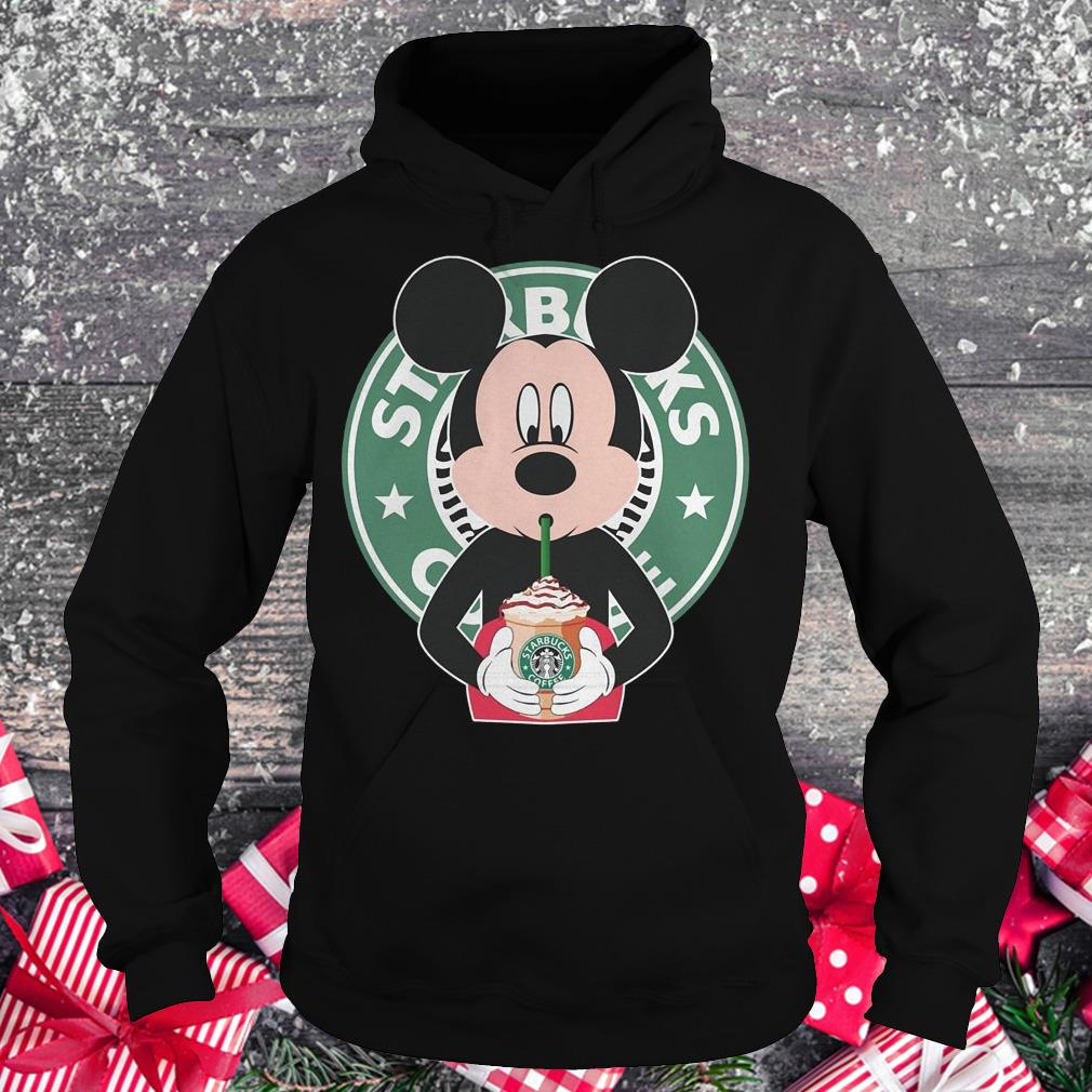 Mickey mouse drinks Starbucks coffee shirt Hoodie