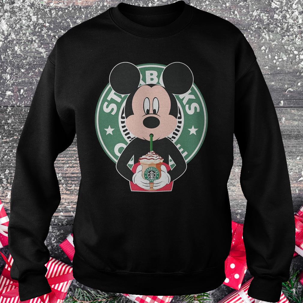 Mickey mouse drinks Starbucks coffee shirt Sweatshirt Unisex
