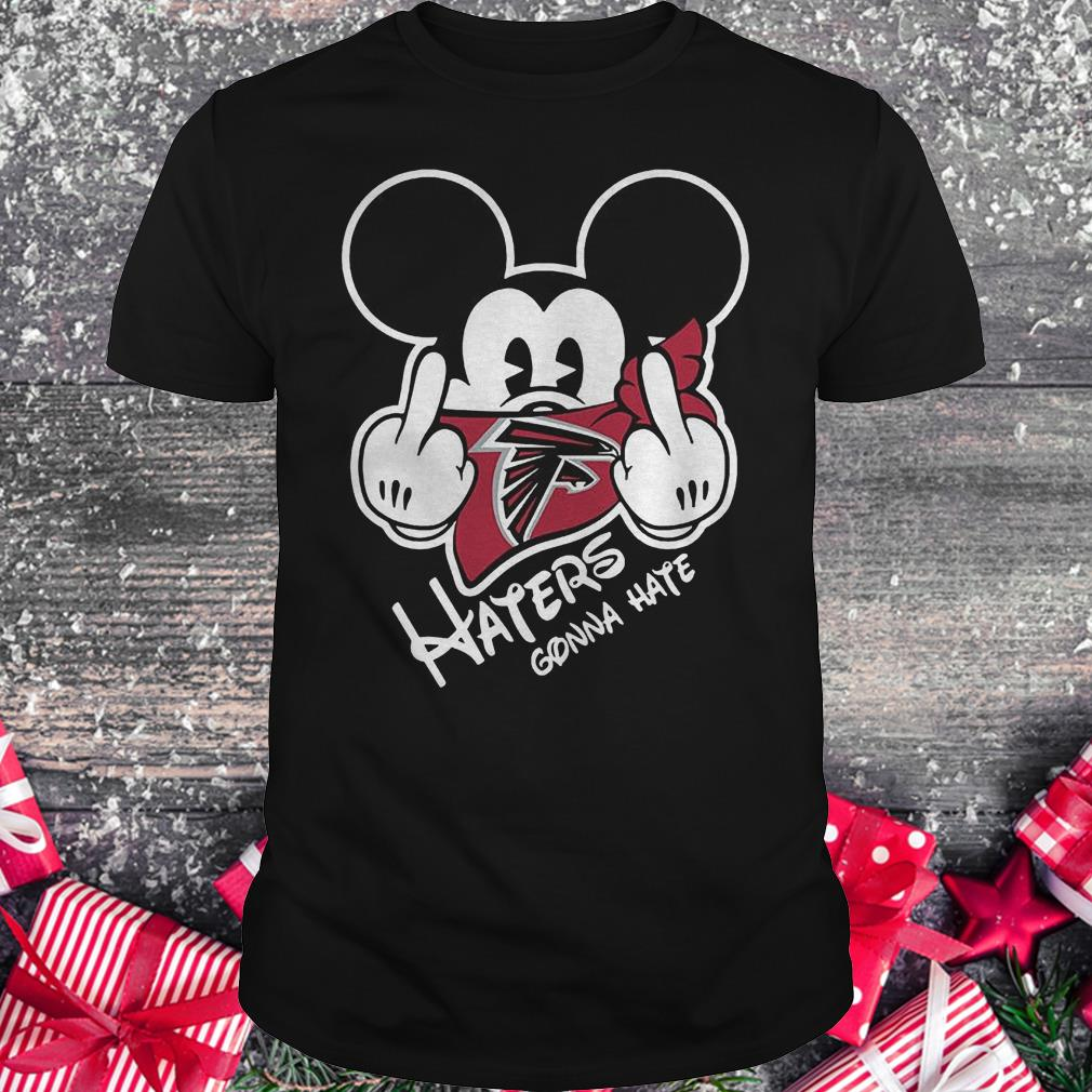 NFL Atlanta Falcons haters gonna hate Mickey Mouse Shirt