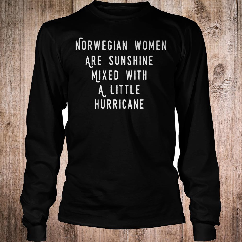 Original Norwegian women are sunshine mixed with a little hurricane shirt Longsleeve Tee Unisex