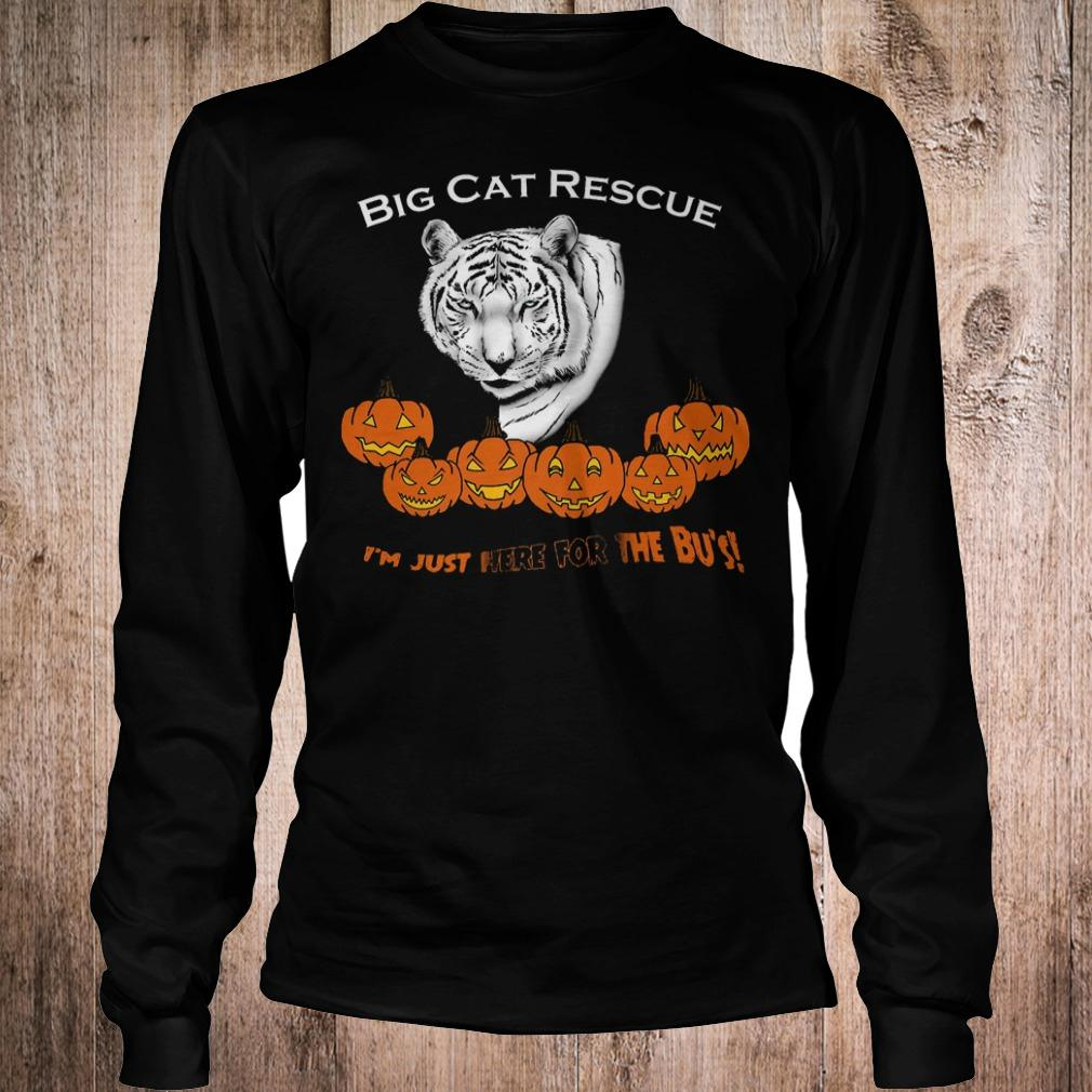 Premium Big cat rescue i'm just here for the Bu's white tiger pumpkins shirt Longsleeve Tee Unisex