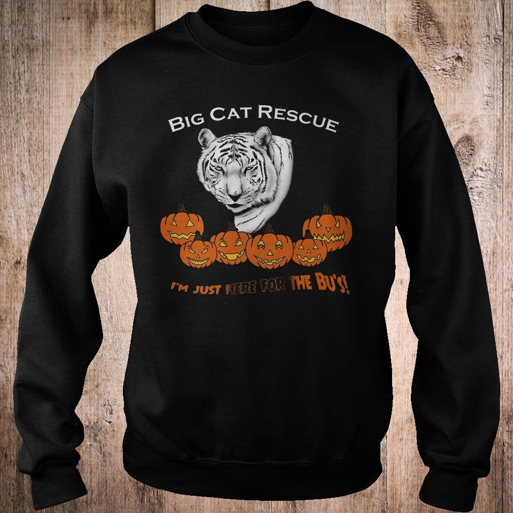 Premium Big cat rescue i'm just here for the Bu's white tiger pumpkins shirt Sweatshirt Unisex