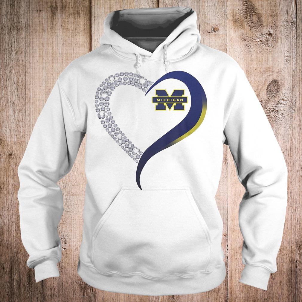 Premium Michigan Wolverines heart blink shirt Hoodie