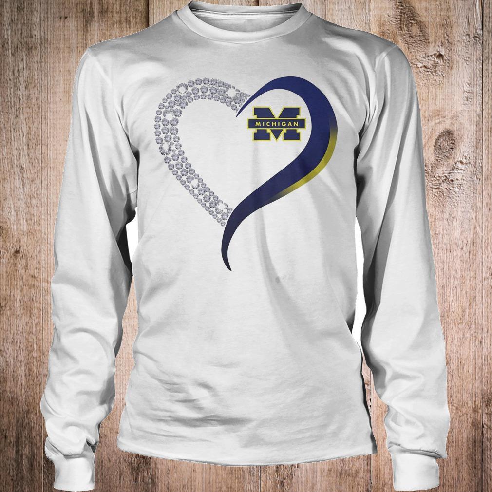 Premium Michigan Wolverines heart blink shirt Longsleeve Tee Unisex