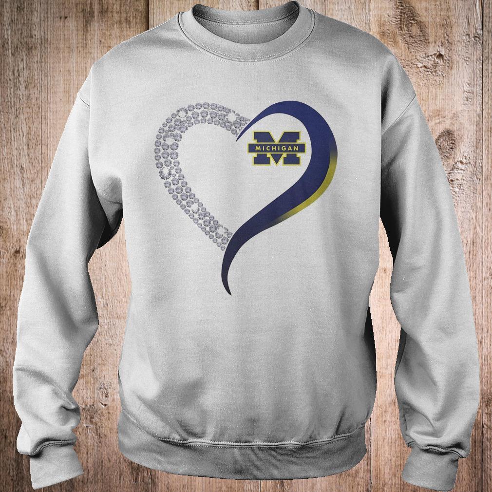 Premium Michigan Wolverines heart blink shirt Sweatshirt Unisex