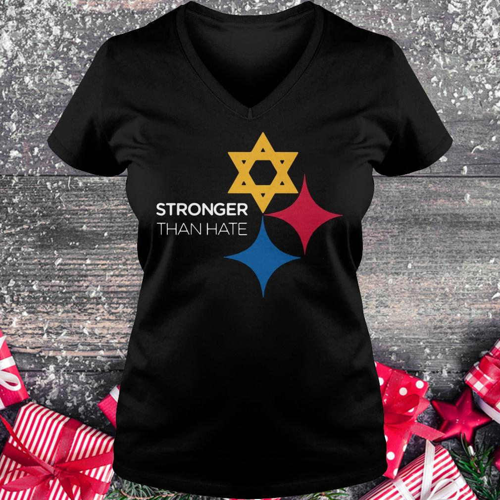 Premium Pittsburgh Stronger Than Hate shirt Ladies V-Neck