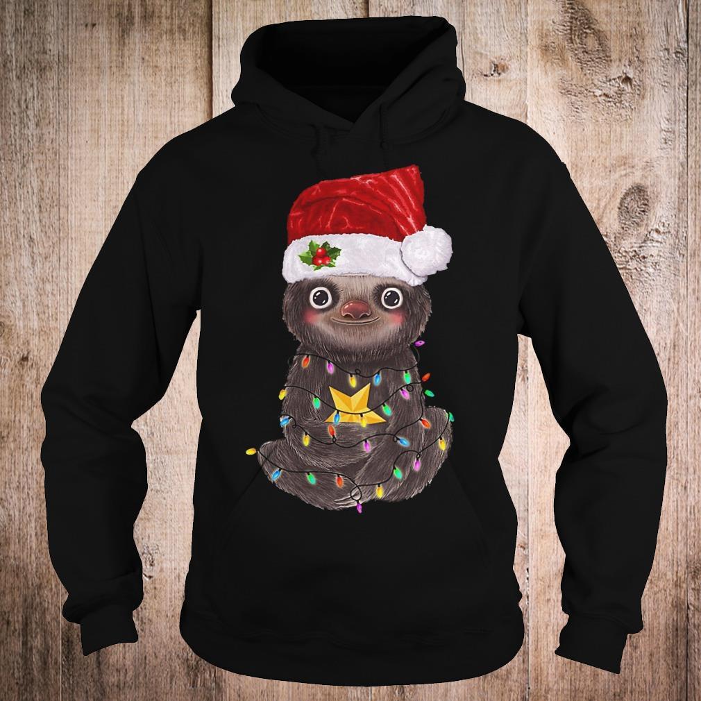 Premium Sloth with Christmas light shirt Hoodie