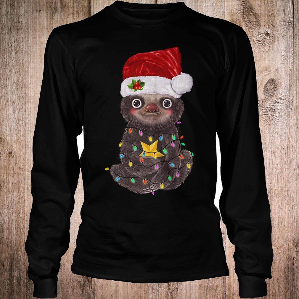 Premium Sloth with Christmas light shirt Longsleeve Tee Unisex
