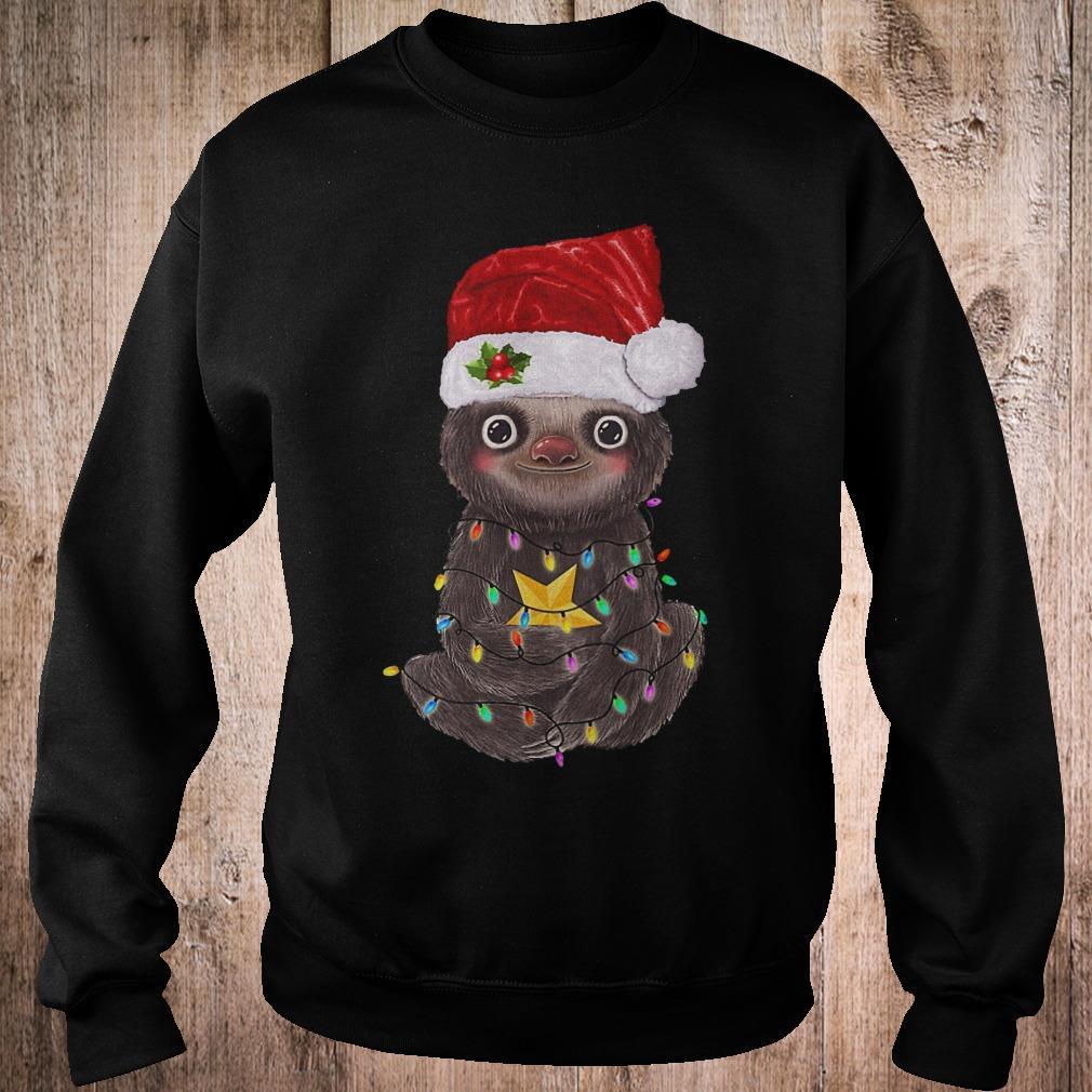 Premium Sloth with Christmas light shirt Sweatshirt Unisex