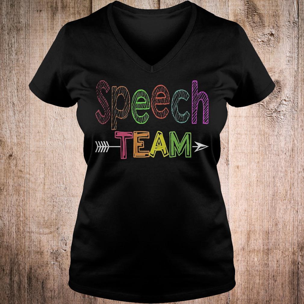 Premium Speech team shirt Ladies V-Neck