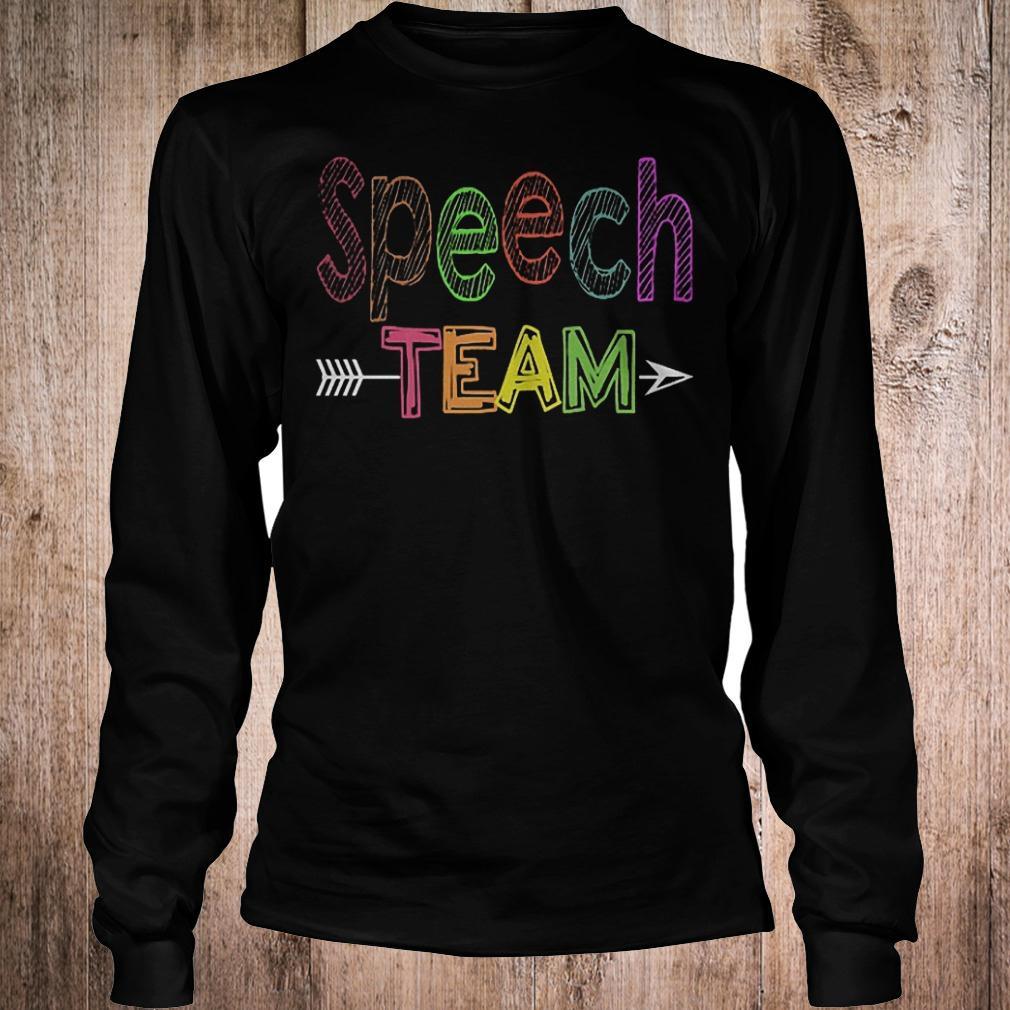 Premium Speech team shirt Longsleeve Tee Unisex