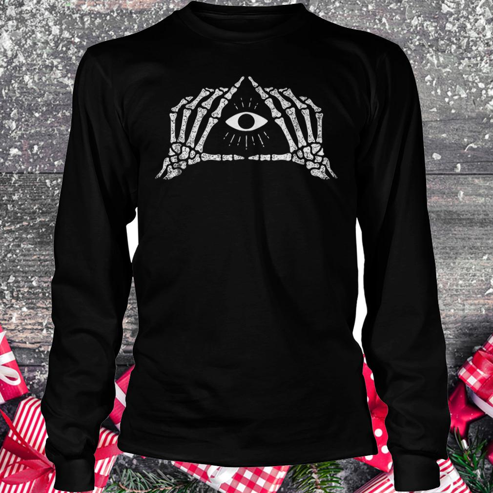 Shane Dawson skeleton all seeing eye shirt Longsleeve Tee Unisex