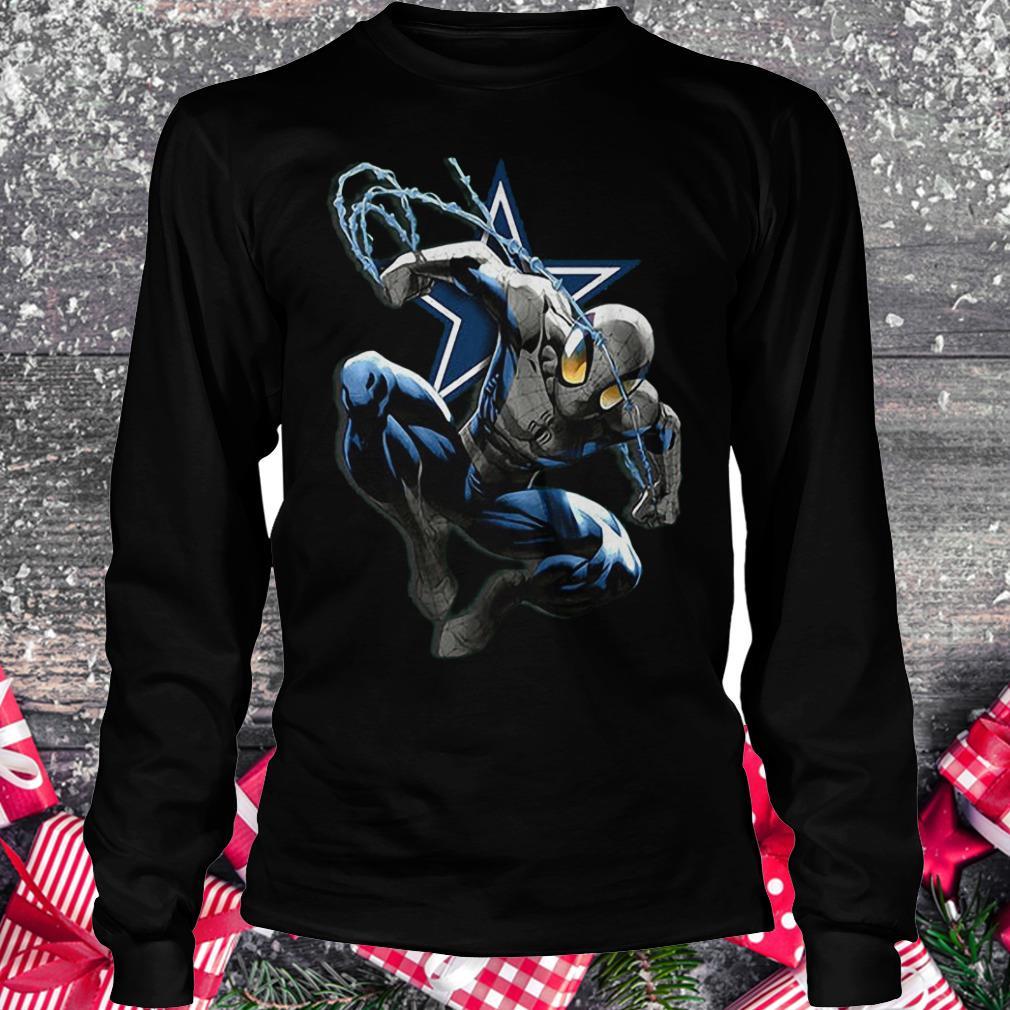 Spiderman Dallas Cowboys Shirt Longsleeve Tee Unisex