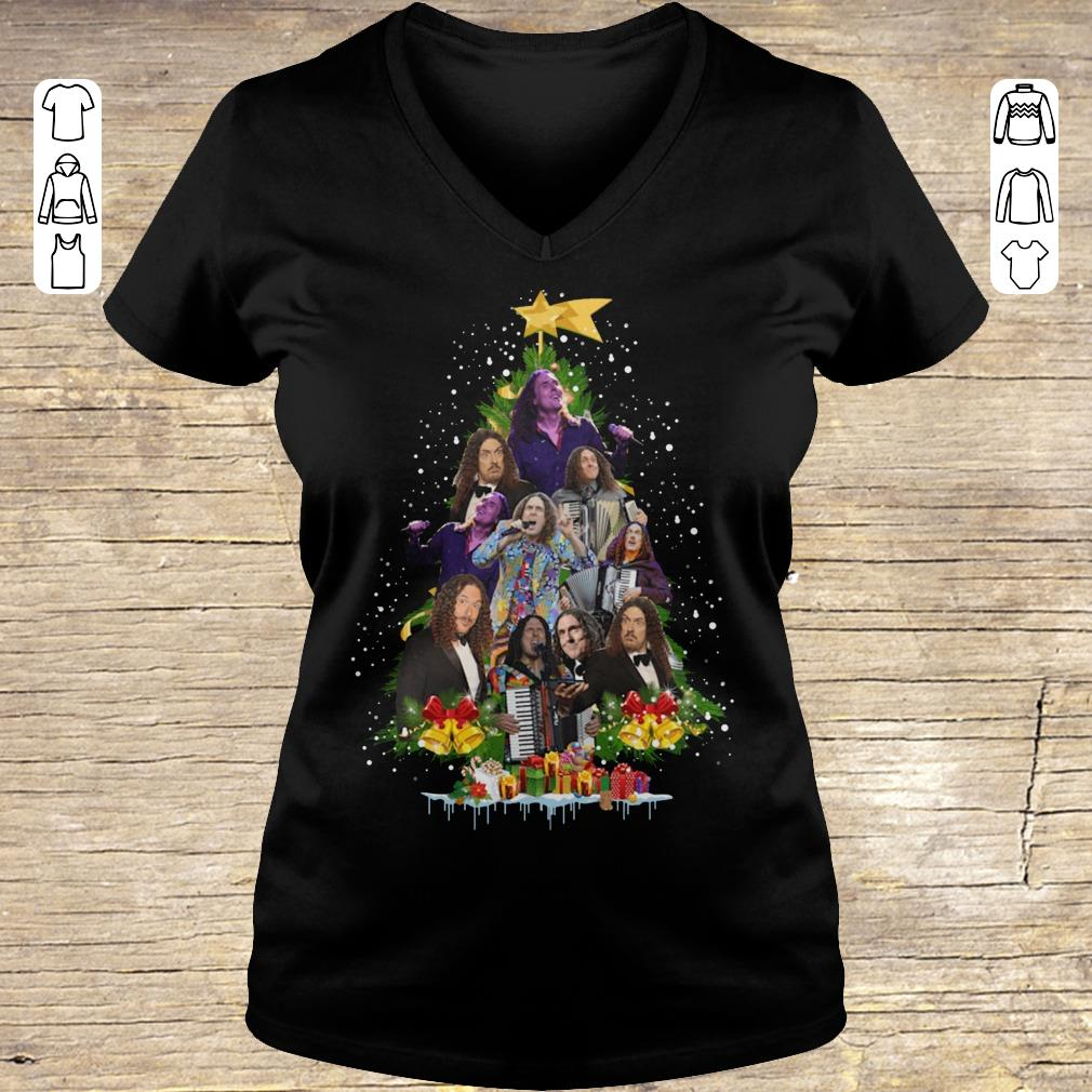 Awesome Weird Al Yankovic Christmas tree shirt Ladies V-Neck