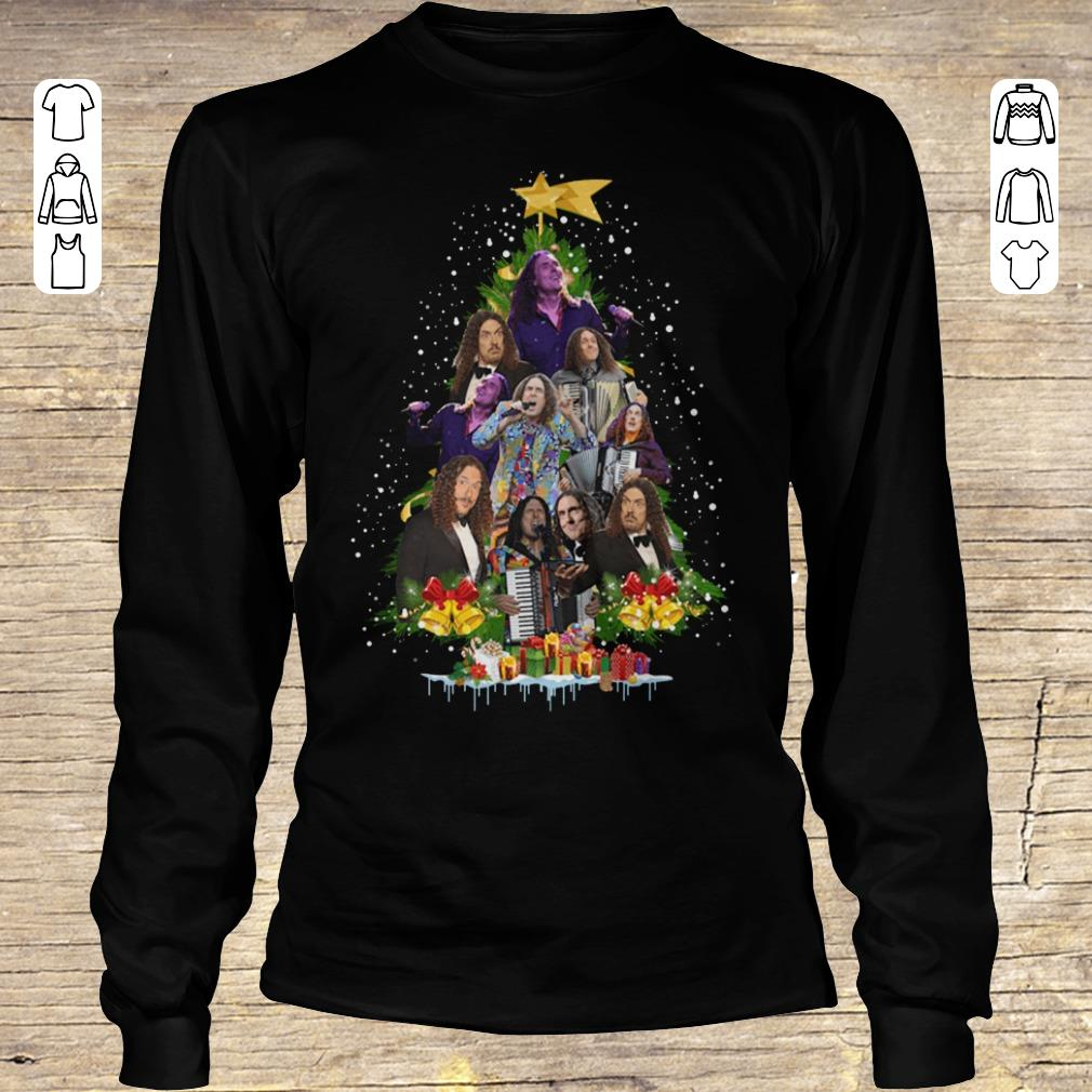 Awesome Weird Al Yankovic Christmas tree shirt Longsleeve Tee Unisex