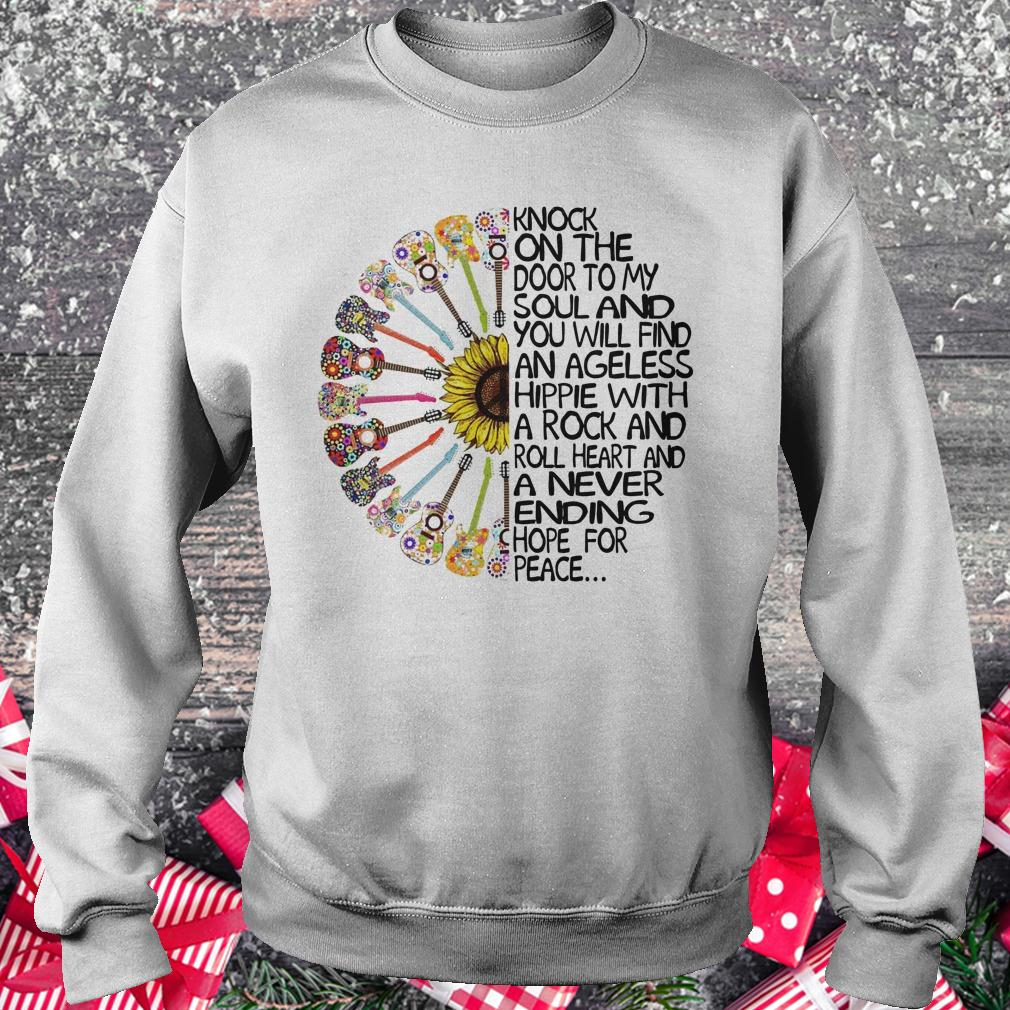 Best price Hippie Soul Rock Guitar Knock on the door to my soul and you will find an ageless hippie shirt