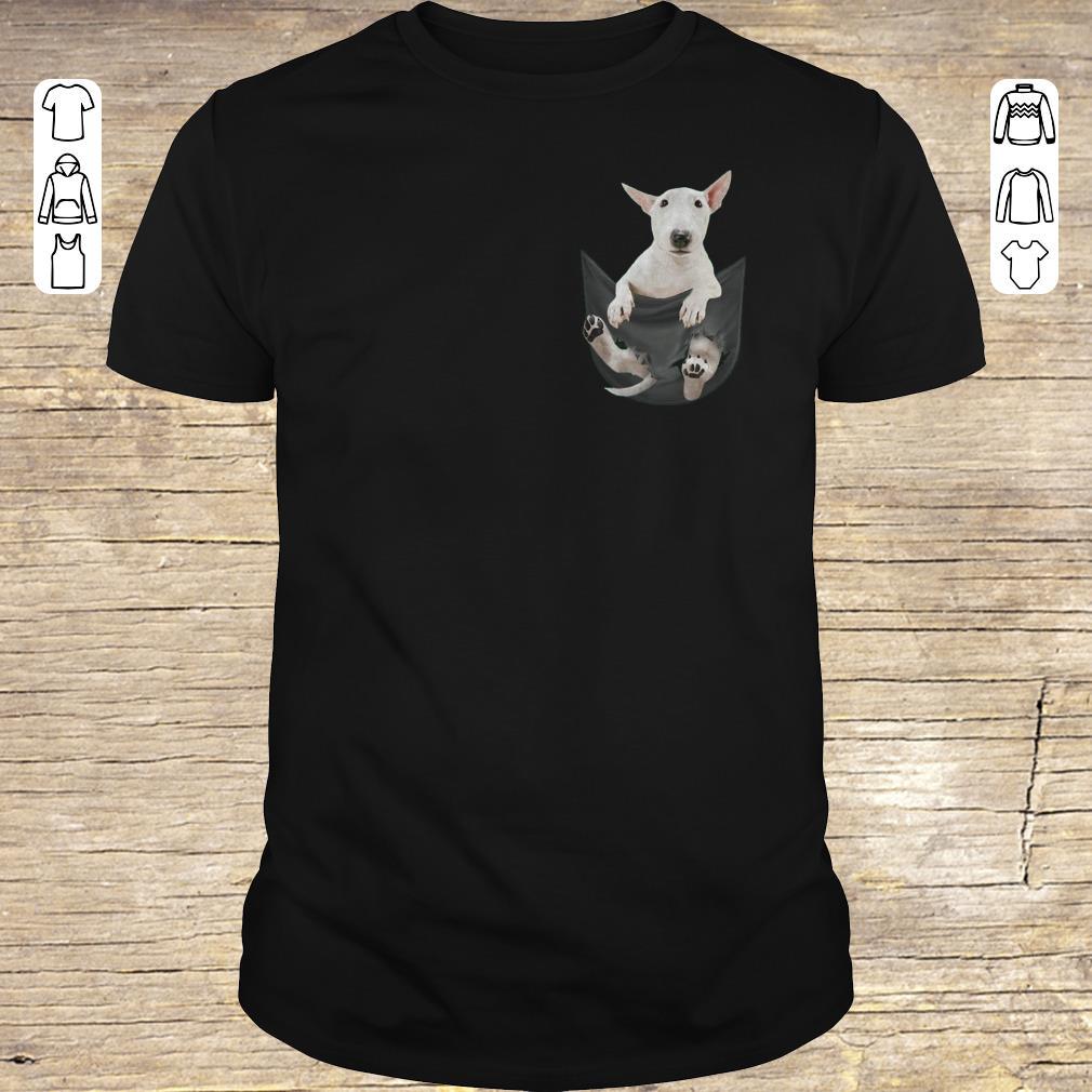 Funny Bull Terrier inside black Tiny Pocket shirt hoodie Classic Guys / Unisex Tee