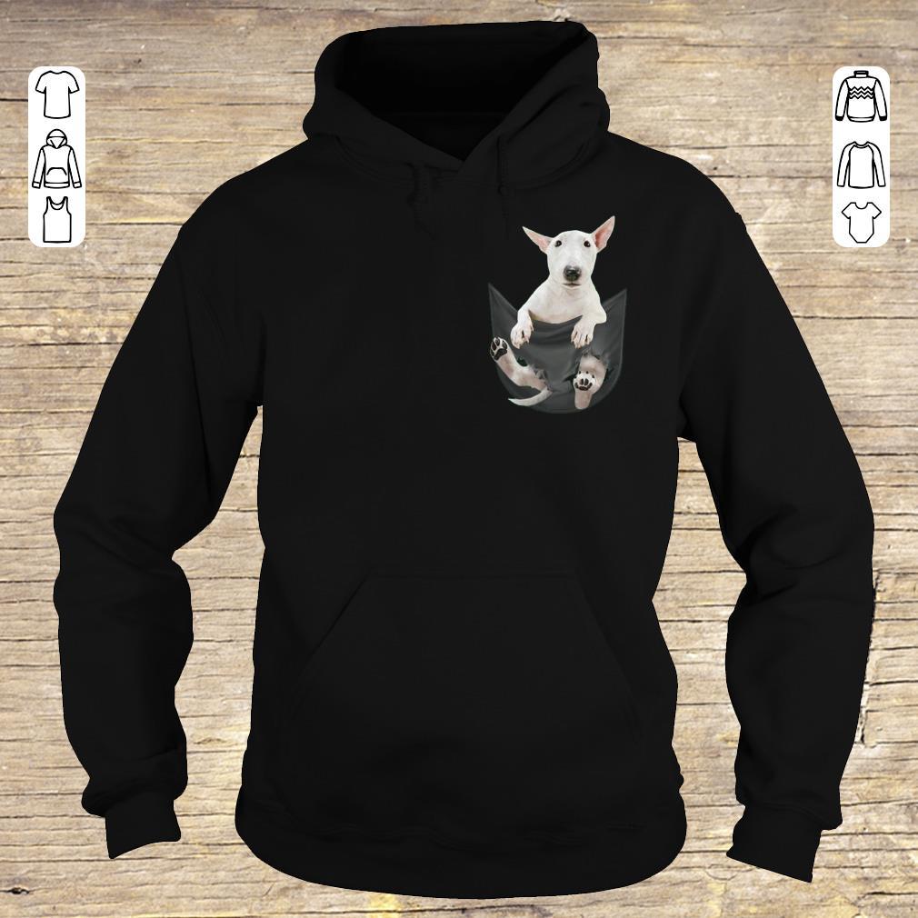 Funny Bull Terrier inside black Tiny Pocket shirt hoodie Hoodie