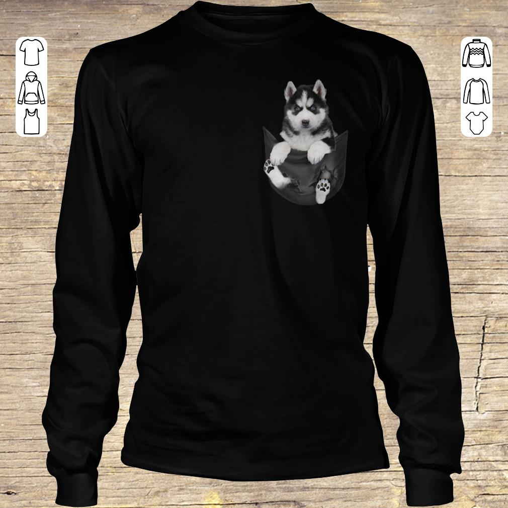 Hot Husky Tiny Pocket shirt hoodie Longsleeve Tee Unisex