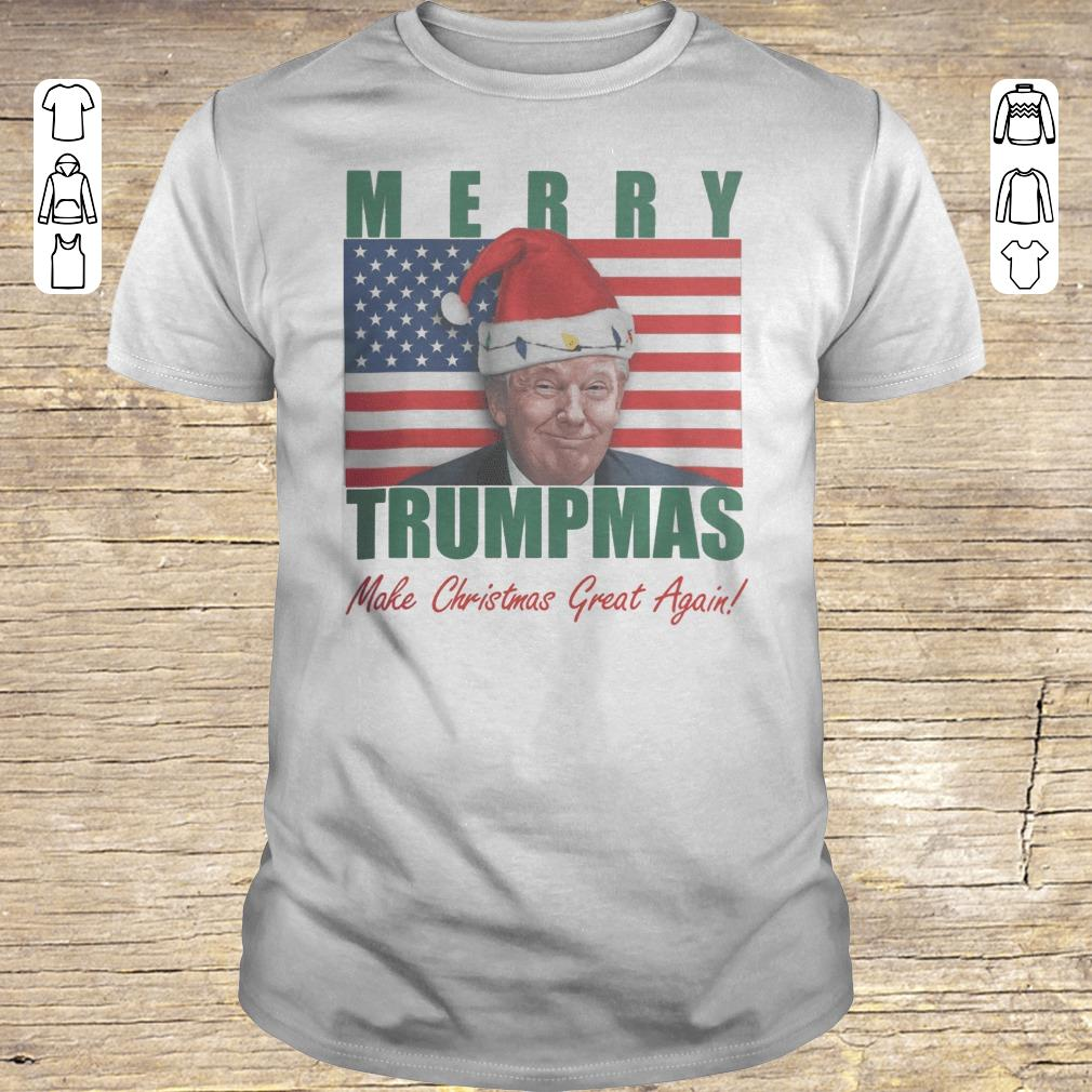 Hot Merry Trumpmas Make christmas great again shirt Classic Guys / Unisex Tee