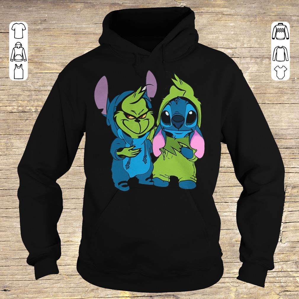 Hot Stitch and Grinch shirt Hoodie