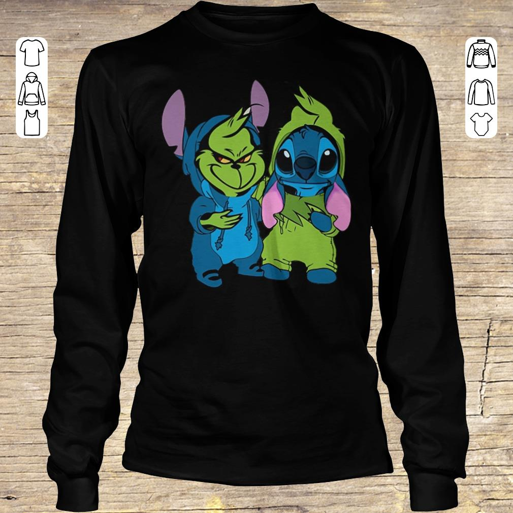 Hot Stitch and Grinch shirt Longsleeve Tee Unisex