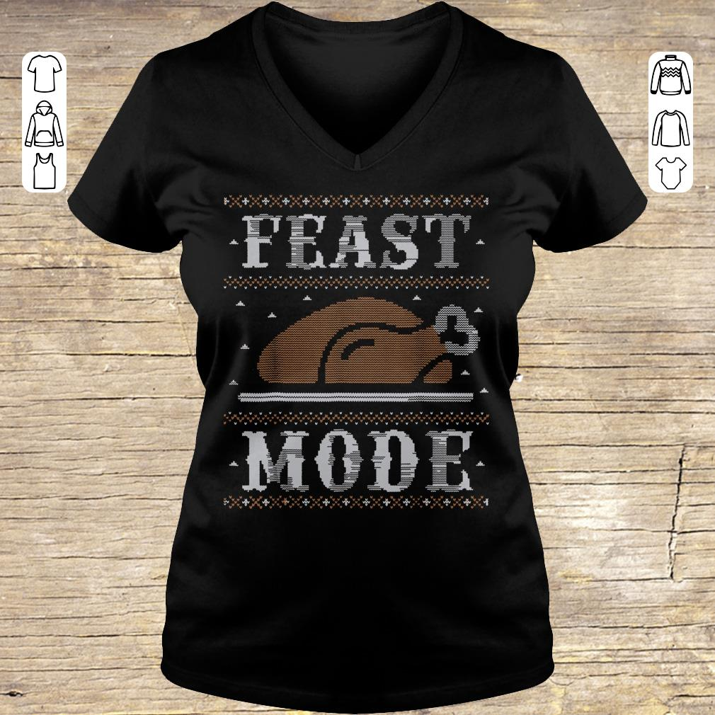 Hot Thanksgiving Feast Mode sweater shirt hoodie Ladies V-Neck