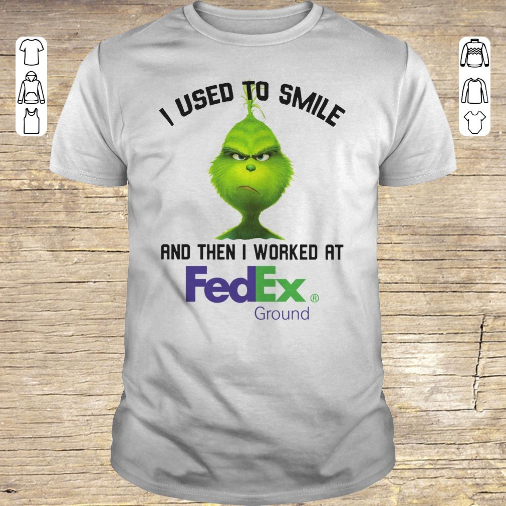 Nice Grinch I used to smile and then I worked at Fedex Ground shirt Classic Guys / Unisex Tee