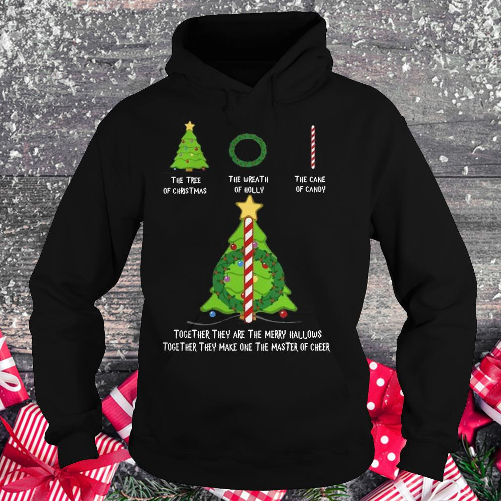 Nice Harry Potter The tree of christmas the wreath of holly the cane of candy shirt Hoodie