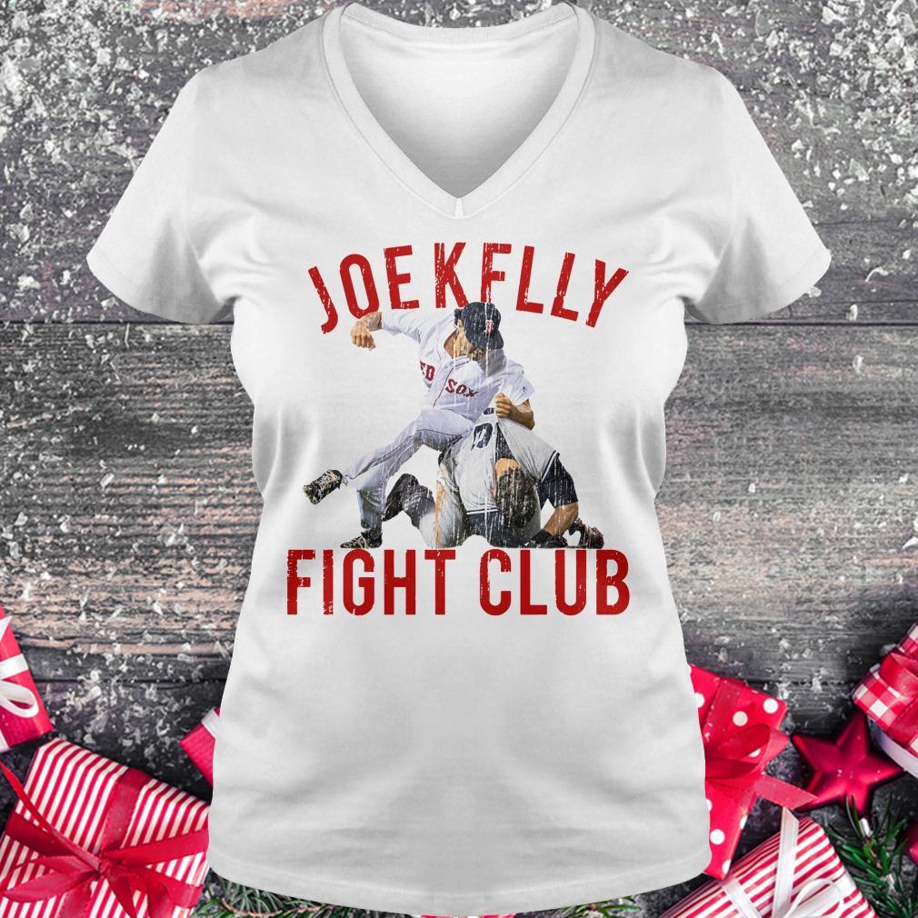 Official Boston Baseball Joe Kelly Fight Club shirt Ladies V-Neck