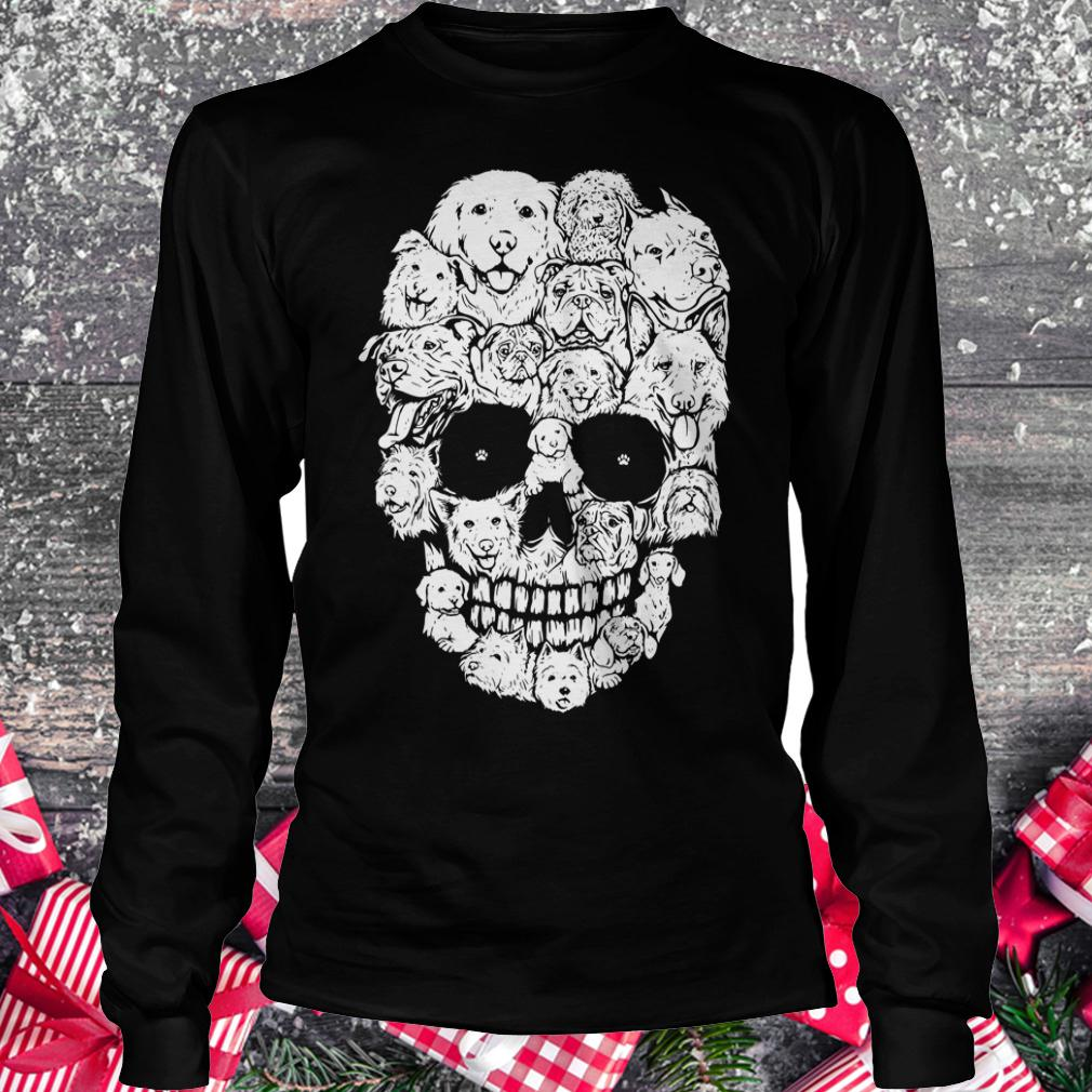 Official Dogs stacked into skull shirt Longsleeve Tee Unisex