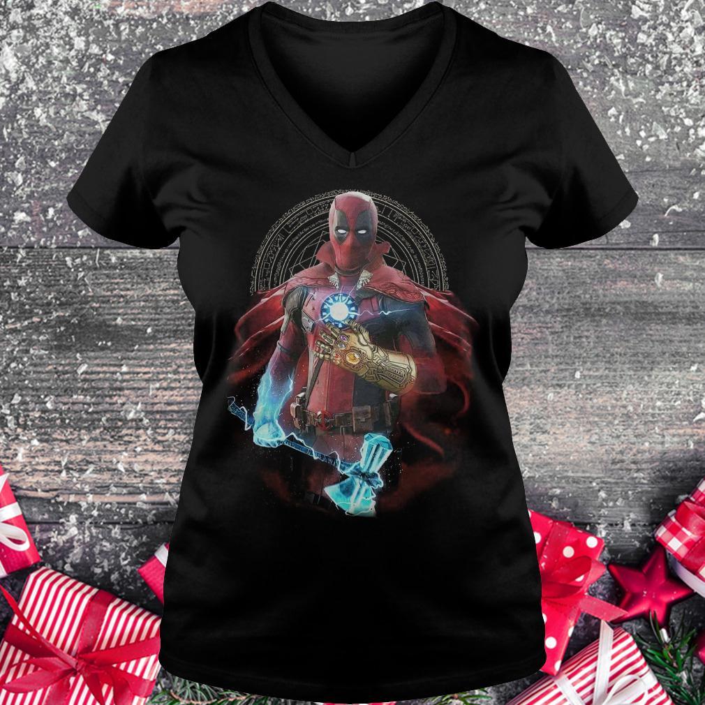 Original Avengers Infinity Deadpool Doctor Strange Iron Man Thanos Thor shirt Ladies V-Neck
