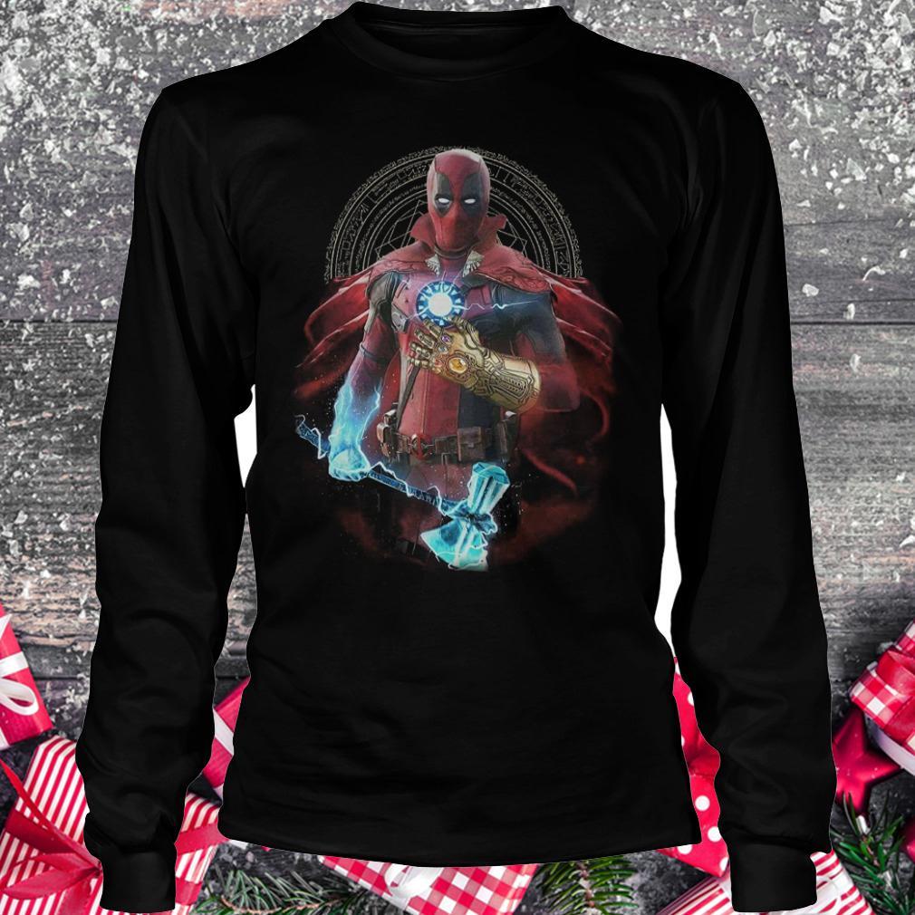 Original Avengers Infinity Deadpool Doctor Strange Iron Man Thanos Thor shirt Longsleeve Tee Unisex