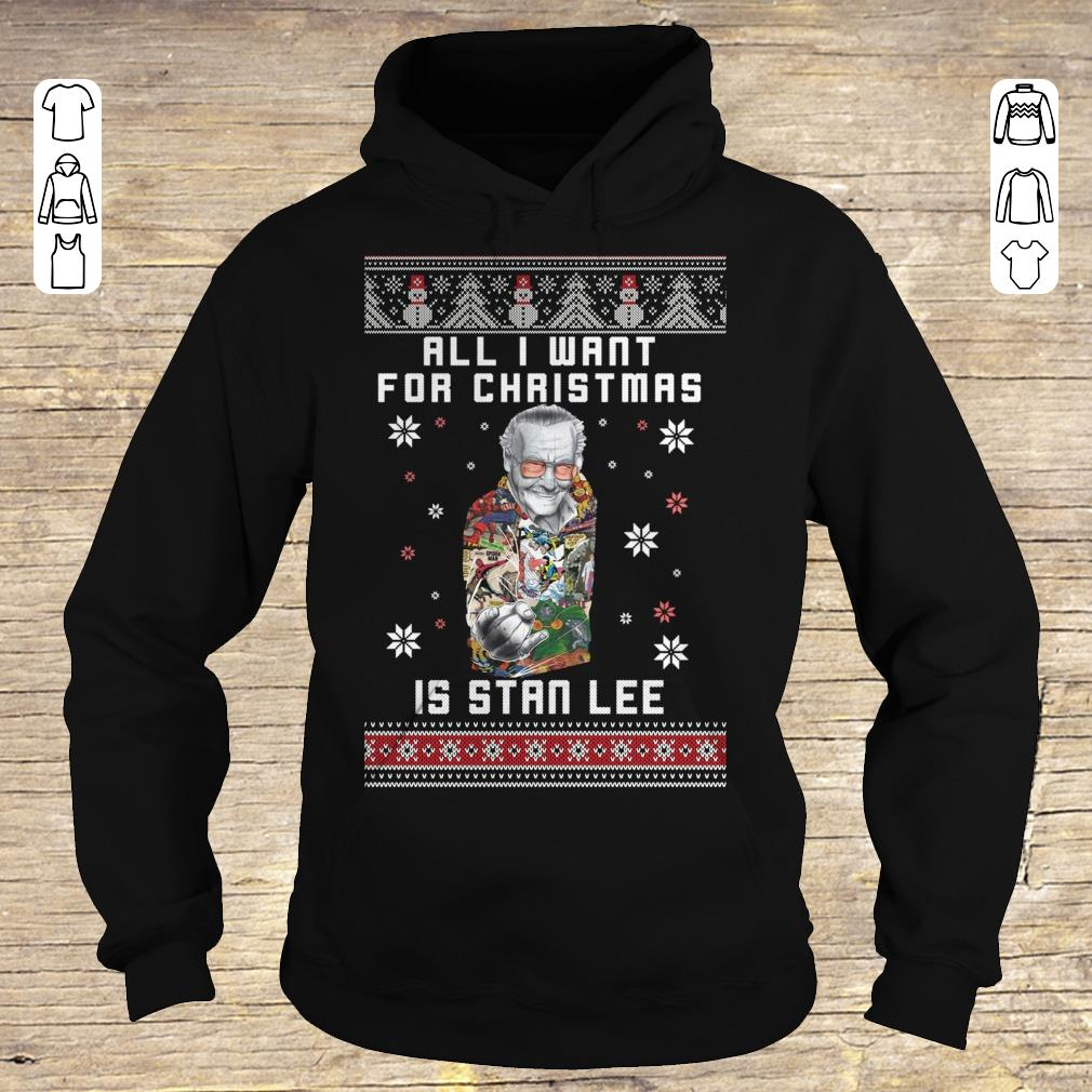 Premium All I want for christmas is Stan Lee shirt sweater Hoodie